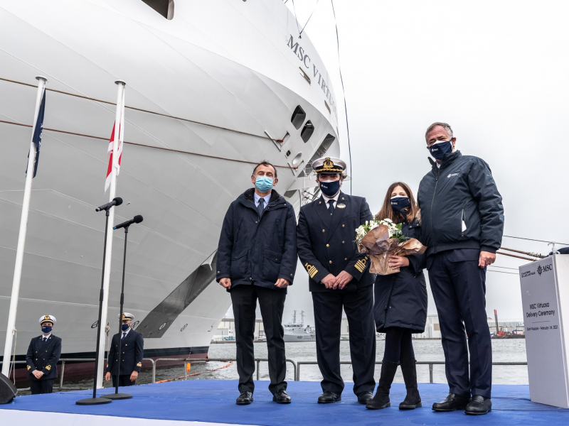MSC Cruises Takes Delivery Of MSC Virtuosa at Chantiers de l'Atlantique  (January 2021)
